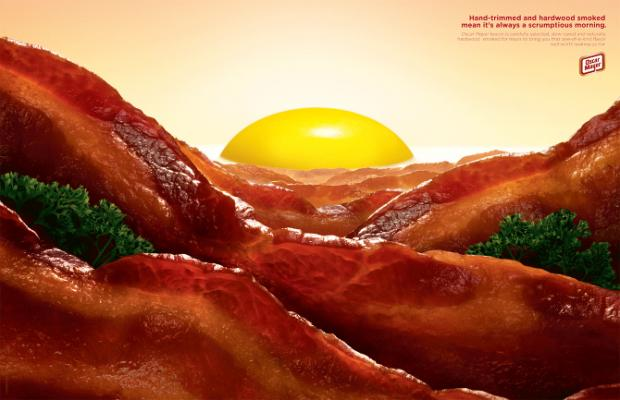 Bacon Art on oscar mayer sliced bacon