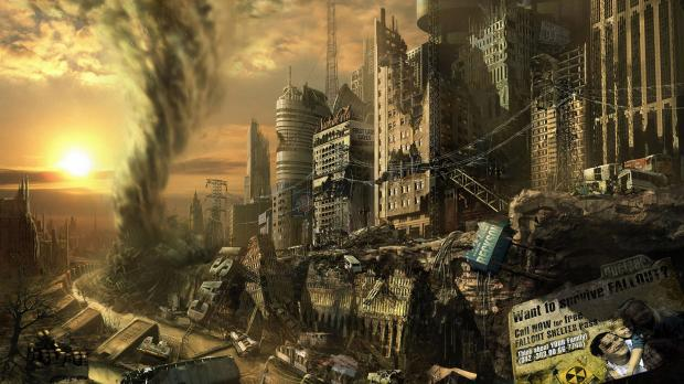 Concept Art of Cities Being DestroyedDestroyed City Art
