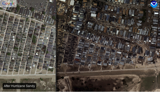 Hurricane Sandy Before And After Before And After Hurricane